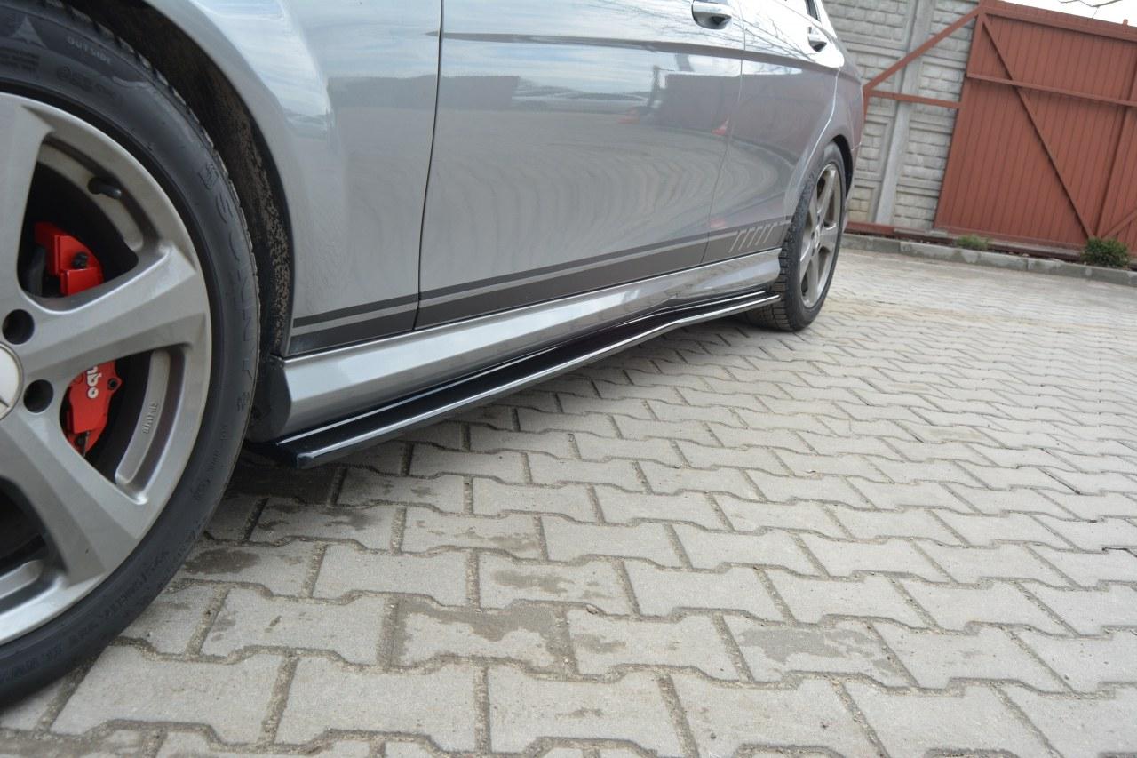 Dokładki Progów Mercedes C-Class W204 AMG-Line Przedlift - GRUBYGARAGE - Sklep Tuningowy